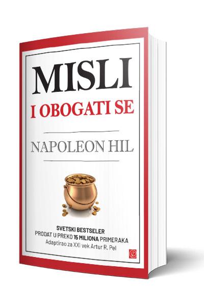 Knjiga Misli i obogati se - autor Napoleon Hil - 3d Prednja korica