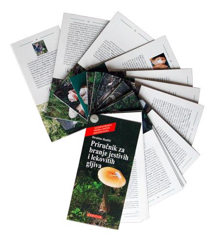 Knjiga Priručnik za branje jestivih i lekovitih gljiva - Prednja korica - Lepeza