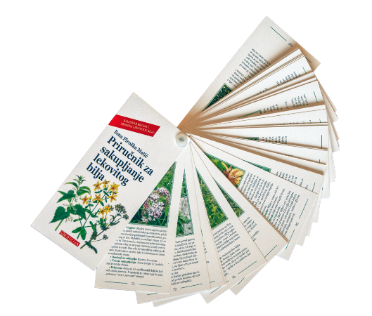 Knjiga Priručnik za sakupljanje lekovitog bilja - Prednja korica - Lepeza