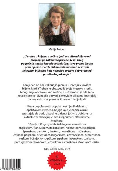 Knjiga Zdravlje iz Božje apoteke - autor Marija Treben - Zadnja korica