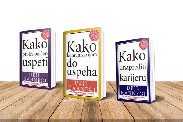 Komplet knjiga - Dejl Karnegi - Kako unaprediti karijeru - Kako profesionalno uspeti - Kako komunikacijom do uspeha