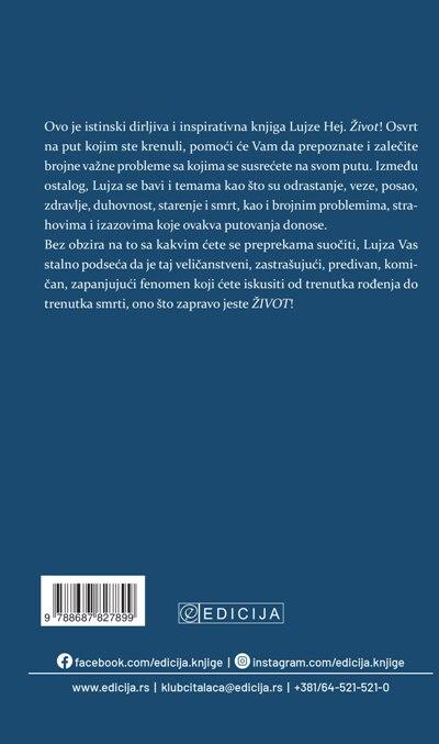 Knjiga Život - autor Lujza Hej - Zadnja korica