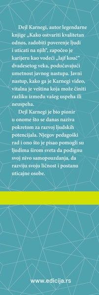 Knjiga Javnim nastupom do uspeha - autor Dejl Karnegi - Prednja klapna