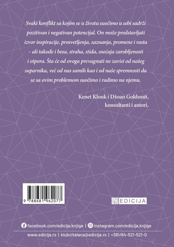 Knjiga Kako rešavati konflikte na profesionalnom i privatnom planu - autor Dejl Karnegi - zadnja korica