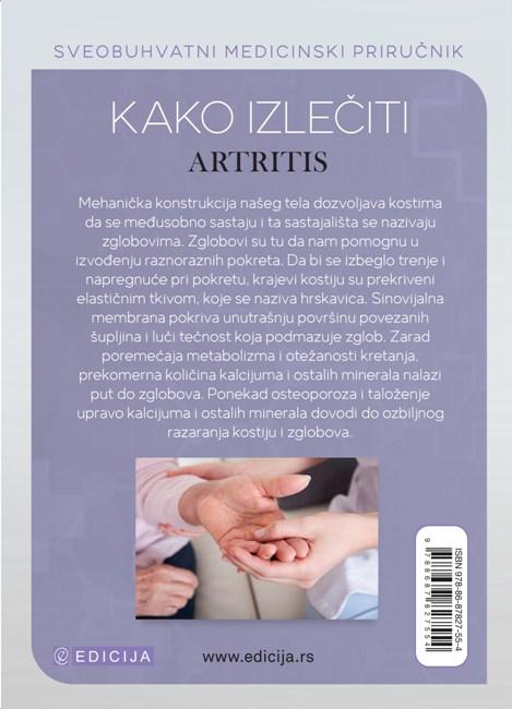 Kako izlečiti artritis - autor Vaidja Bagvan Daš - zadnja korica