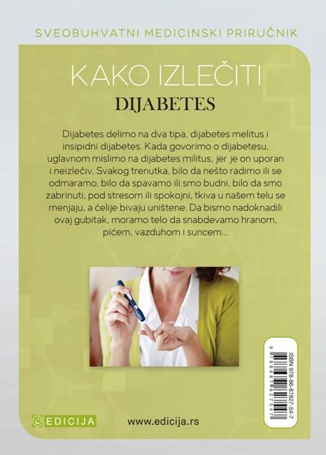 Kako izlečiti dijabetes - autor Vaidja Bagvan Daš - zadnja korica