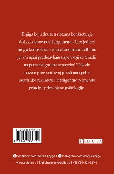Knjiga Izgubljene tajne uspeha- autor Napoleon Hil - zadnja korica