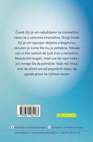Knjiga Vaš um čini čuda - autor Džozef Marfi zadnja korica